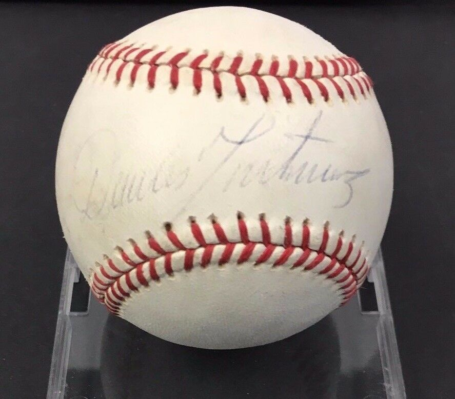 Dennis Martinez Autographed Baseball Signed Montreal Expos MLB Sweet Spot