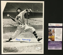Load image into Gallery viewer, Max Manning Autographed Black & White Baseball Photo Newark Eagles JSA