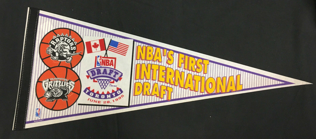 1995 NBA Draft Pennant First International Toronto Raptors Vancouver Grizzlies