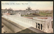 Load image into Gallery viewer, Vintage City College + New Lewisohn Stadium New York Postcard Amphitheater