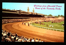 Load image into Gallery viewer, 1950's Kentucky Derby Churchill Downs Louisville Kentucky Vintage Postcard
