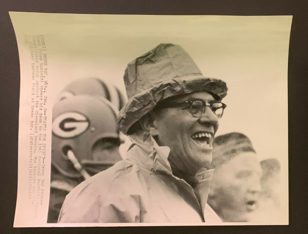 1965 Vince Lombardi Green Bay Packers Vintage Wire Press Photo NFL Champion