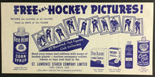 Load image into Gallery viewer, 1961 NHL Bee Hive Hockey Pictures Checklist Vintage Sports St. Lawrence Starch