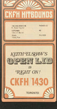Load image into Gallery viewer, 1970 CKFH Radio Survey Record Chart Toronto Music Fred Payne CSNY