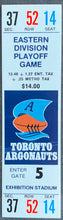 Load image into Gallery viewer, 1986 CFL Football Eastern Division Playoff Game Ticket Hamilton vs Toronto Argos