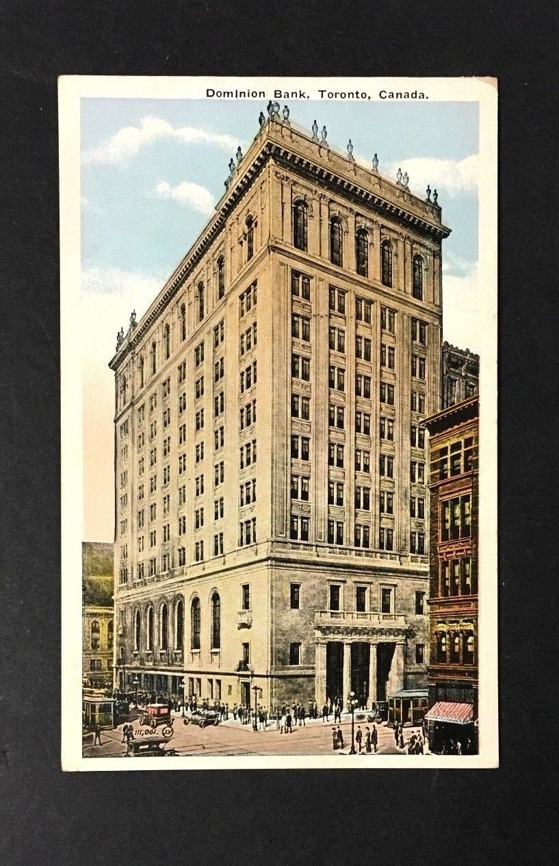 Dominion Bank Toronto Canada Vintage Postcard Valentine & Sons United Publishing
