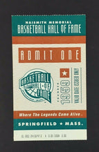 Load image into Gallery viewer, 2001 Basketball Hall Of Fame Game Ticket Naismith Memorial Vintage