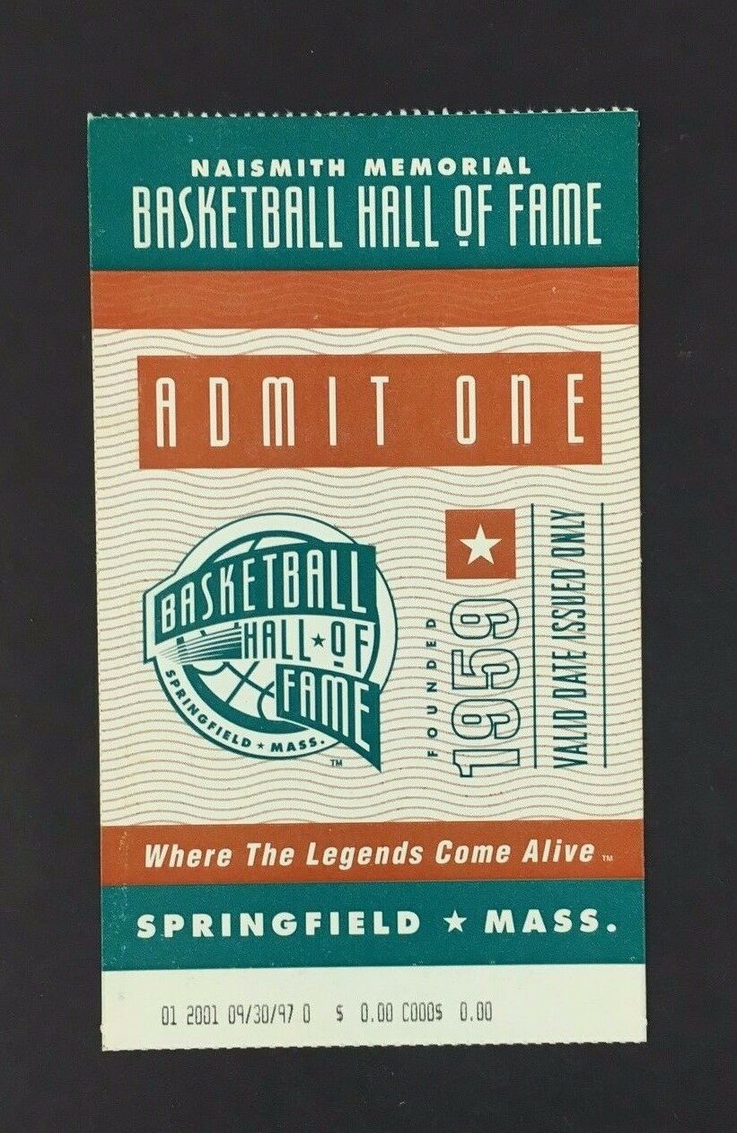 2001 Basketball Hall Of Fame Game Ticket Naismith Memorial Vintage