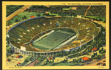 Load image into Gallery viewer, Vintage Football Stadium Post Card The Rose Bowl Pasadena California UCLA