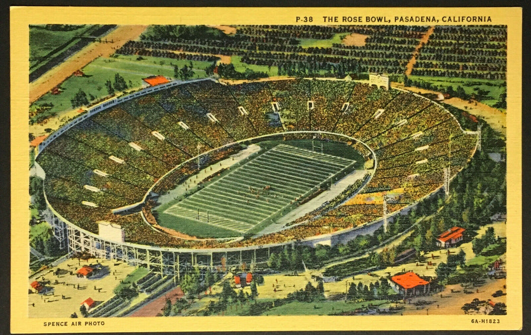 Vintage Football Stadium Post Card The Rose Bowl Pasadena California UCLA