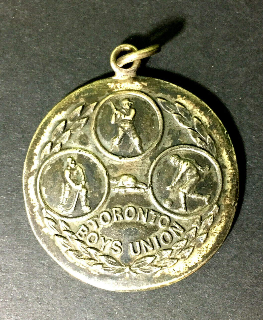 1914 Toronto Boys Union Sterling Medal Best All Round Baseball Football Hockey