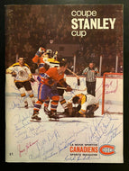 1968 NHL Hockey Vintage Signed Montreal Canadiens Program 19 Autographed JSA LOA