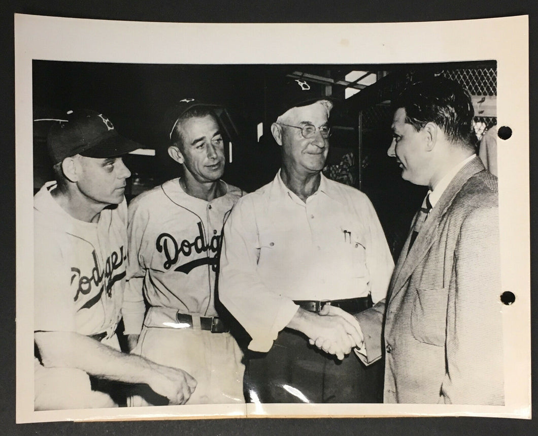 1948 Brooklyn Dodgers MLB Baseball Type 1 Press Photo Burt Shotten Taking Over
