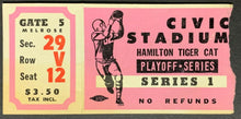Load image into Gallery viewer, 1964 Civic Stadium Hamilton Tiger-Cats Playoff Series 1 CFL Football Ticket