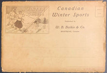 Load image into Gallery viewer, c1900 Canada Winter Sports Book With Photos + Hockey Stories + Vintage Mailer