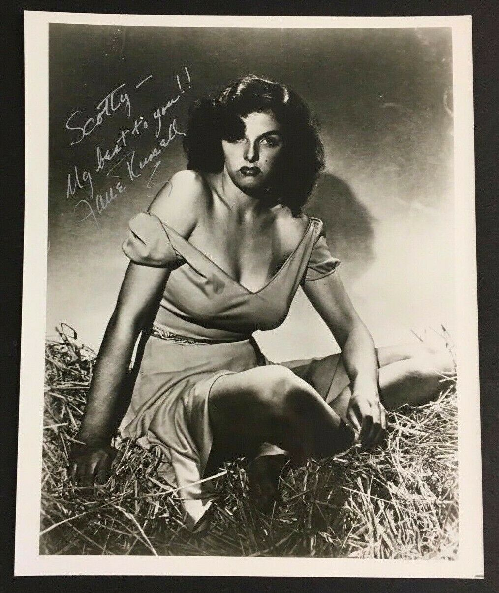 Jane Russell Celebrity Autographed Photo Signed Super Star Hollywood Picture