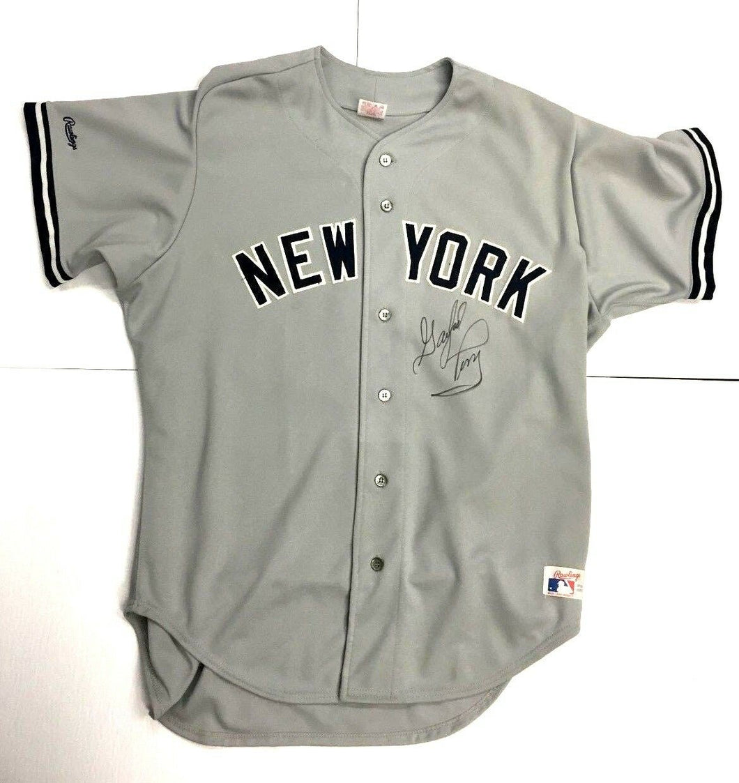 Gaylord Perry Autographed Baseball Jersey #36 Rawlings New York Yankees MLB S 50