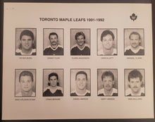 Load image into Gallery viewer, 1991 - 1992 NHL Toronto Maple Leafs Team Issued Photo Set Peter Zezel Todd Gill