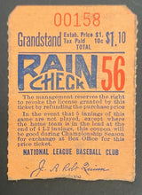Load image into Gallery viewer, 1940s MLB Boston Braves Baseball Grand Stand Vintage Rare Ticket Stub