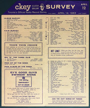 Load image into Gallery viewer, 1963 CKEY Radio Survey Chart Toronto Music Frank Sinatra Fontaine Vintage