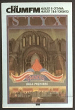 Load image into Gallery viewer, Vtg 1981 STYX Rock Band Concert Tour Decal Patch Paradise Gala Premiere Music