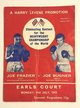 Load image into Gallery viewer, 1974 Joe Frazier v Bugner at Earls Court London Very Rare Boxing Program