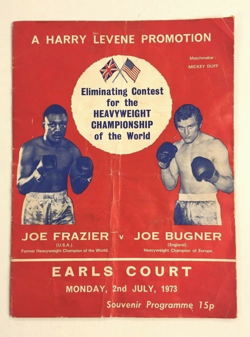1974 Joe Frazier v Bugner at Earls Court London Very Rare Boxing Program