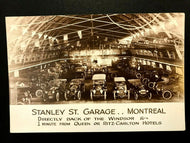 Early 1920s RPPC Stanley St. Garage Montreal Model T Ford Real Photo Postcard