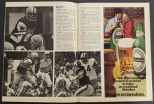 Load image into Gallery viewer, 1974 CFL Program Football BC Lions vs Hamilton Tiger Cats Ivor Wynn Stadium