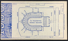 Load image into Gallery viewer, 1936 Municipal Stadium Football Ticket Philadelphia Army vs Navy Vintage