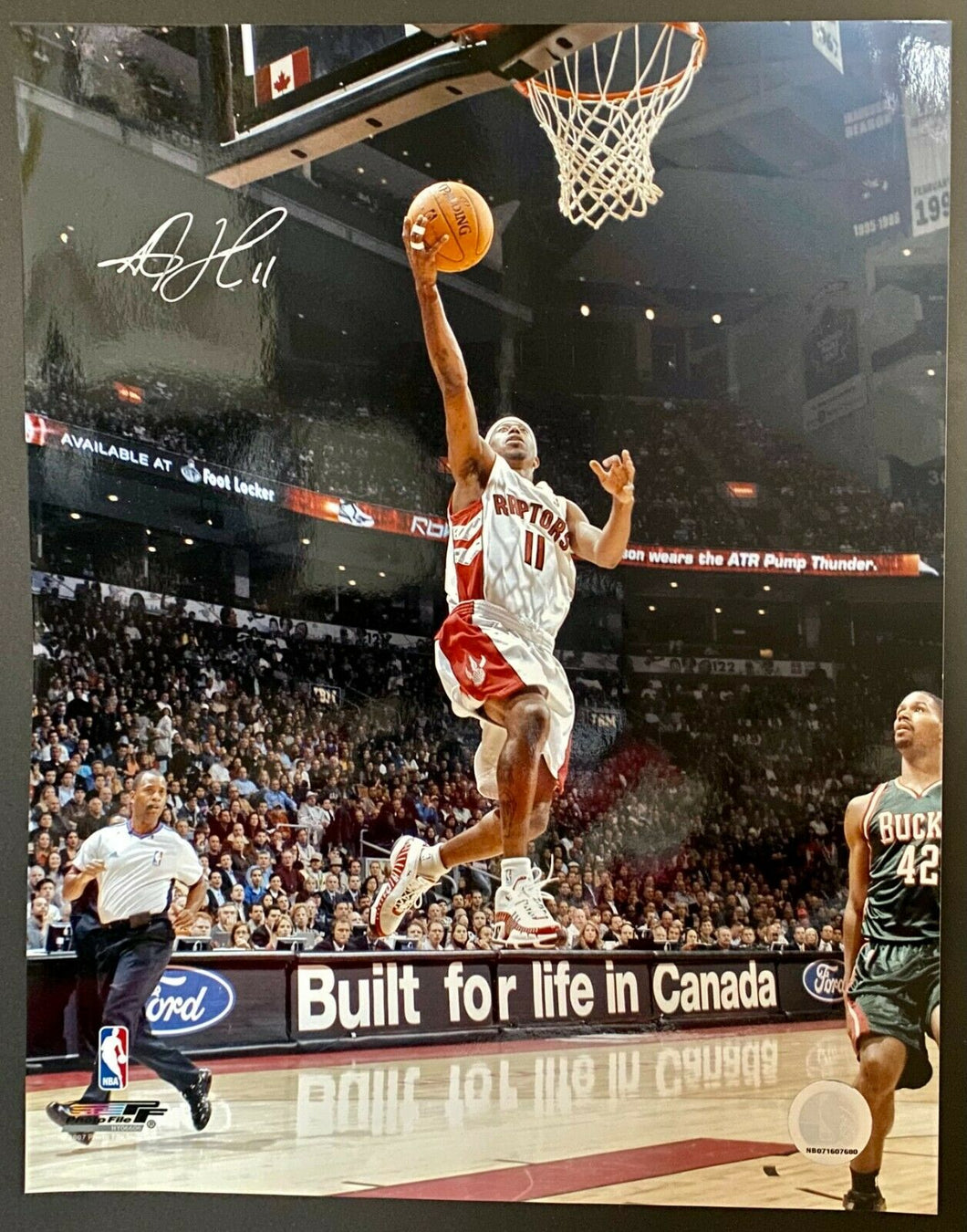TJ Ford Authentic Signed NBA Photo Toronto Raptors Basketball Autograph 14x11