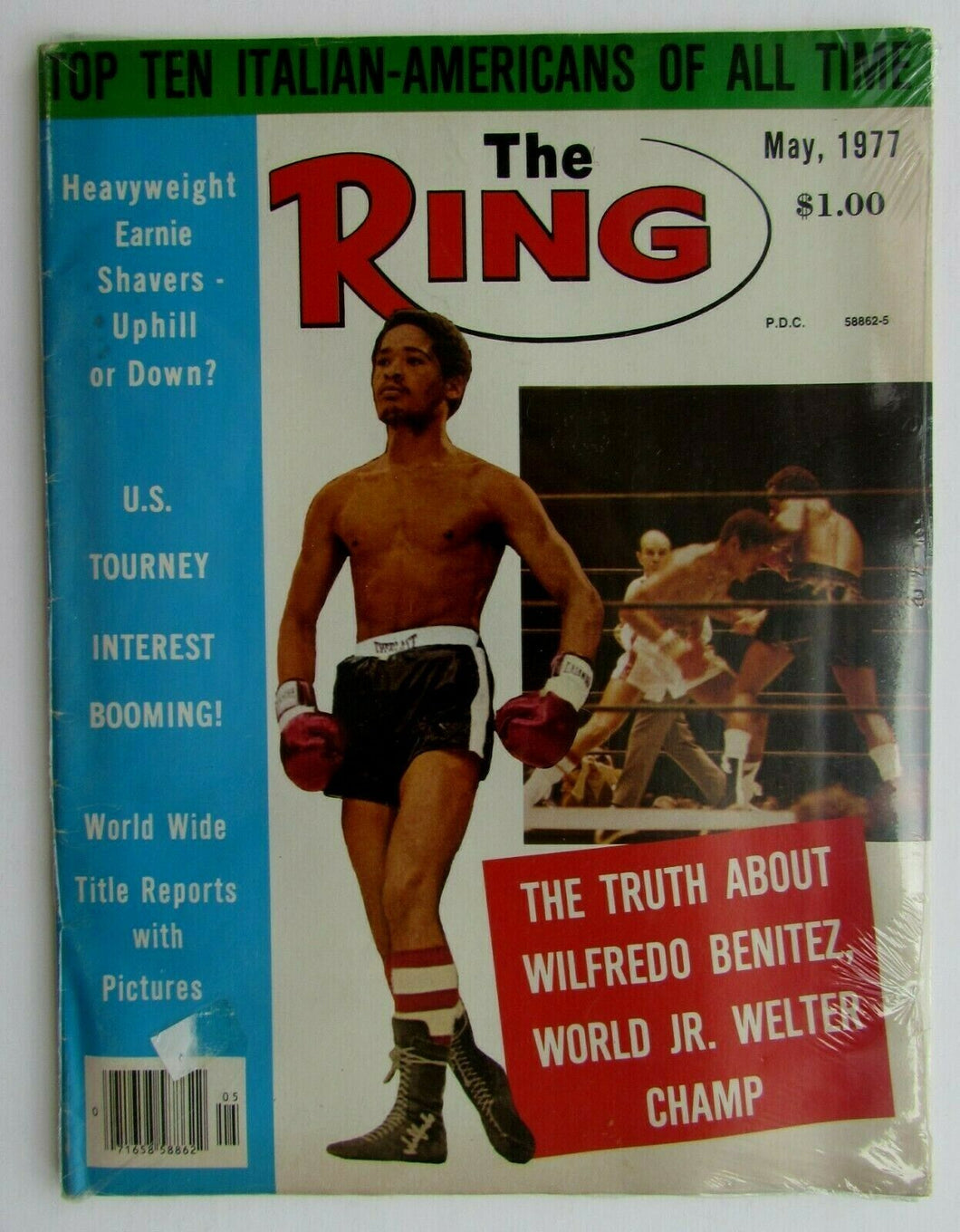 1977 The Ring Boxing Magazine World Junior Welter Champion Wilfredo Benitez