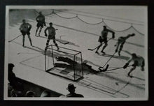 Load image into Gallery viewer, 1936 Winter Olympics Hockey Photo Card Canada vs Austria Germany Vintage Sports