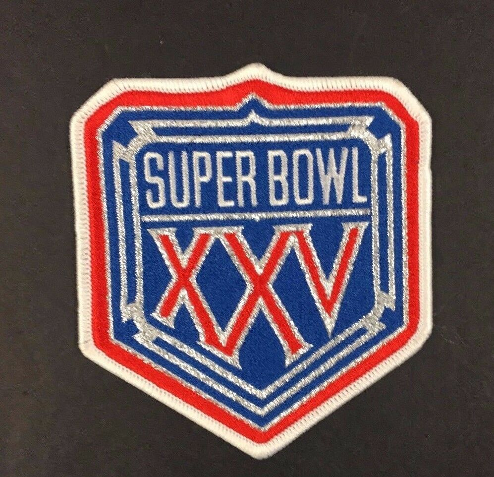 1990 Super Bowl XXV 25 Patch NFL Football Vintage Logo Buffalo Bills New York