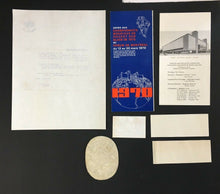 Load image into Gallery viewer, 1970 World Hockey Championship Tournament Tickets Patch + Other Vintage Items