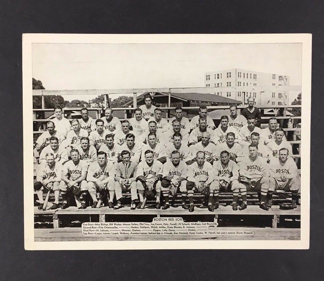 1936 Boston Red Sox Baseball Team Photo National Chicle Picture R311