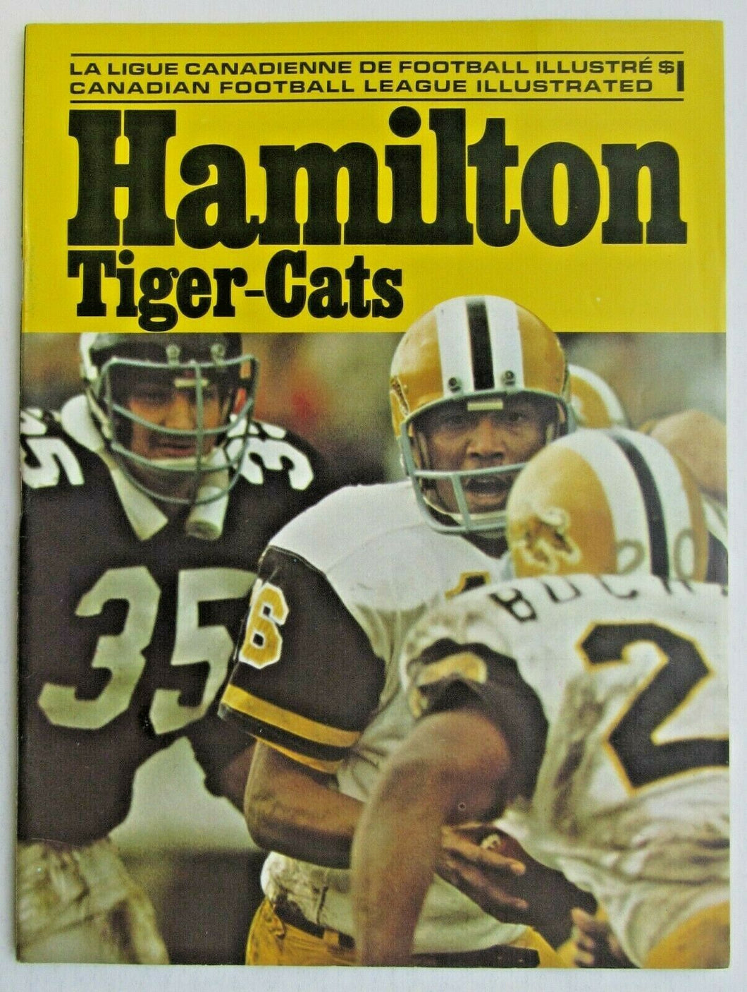 1973 Ivor Wynne Stadium CFL Program Toronto Argonauts vs Hamilton Tiger-Cats