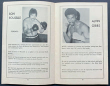 Load image into Gallery viewer, 1977 Canadian Heavyweight Championship Boxing Program Chuvalo vs Felstein VTG