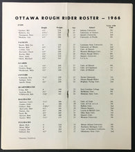 Load image into Gallery viewer, 1966 Ottawa Rough Riders CFL Media Press Radio TV Football Guide Canada Sports