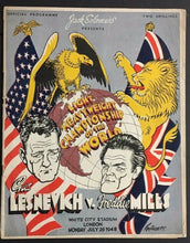Load image into Gallery viewer, 1948 Gus Lesnevich v Freddie Mills Boxing Program White City London Fighting
