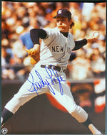 1970s MLB Baseball New York Yankees Sparky Lyle Signed Photo Autographed
