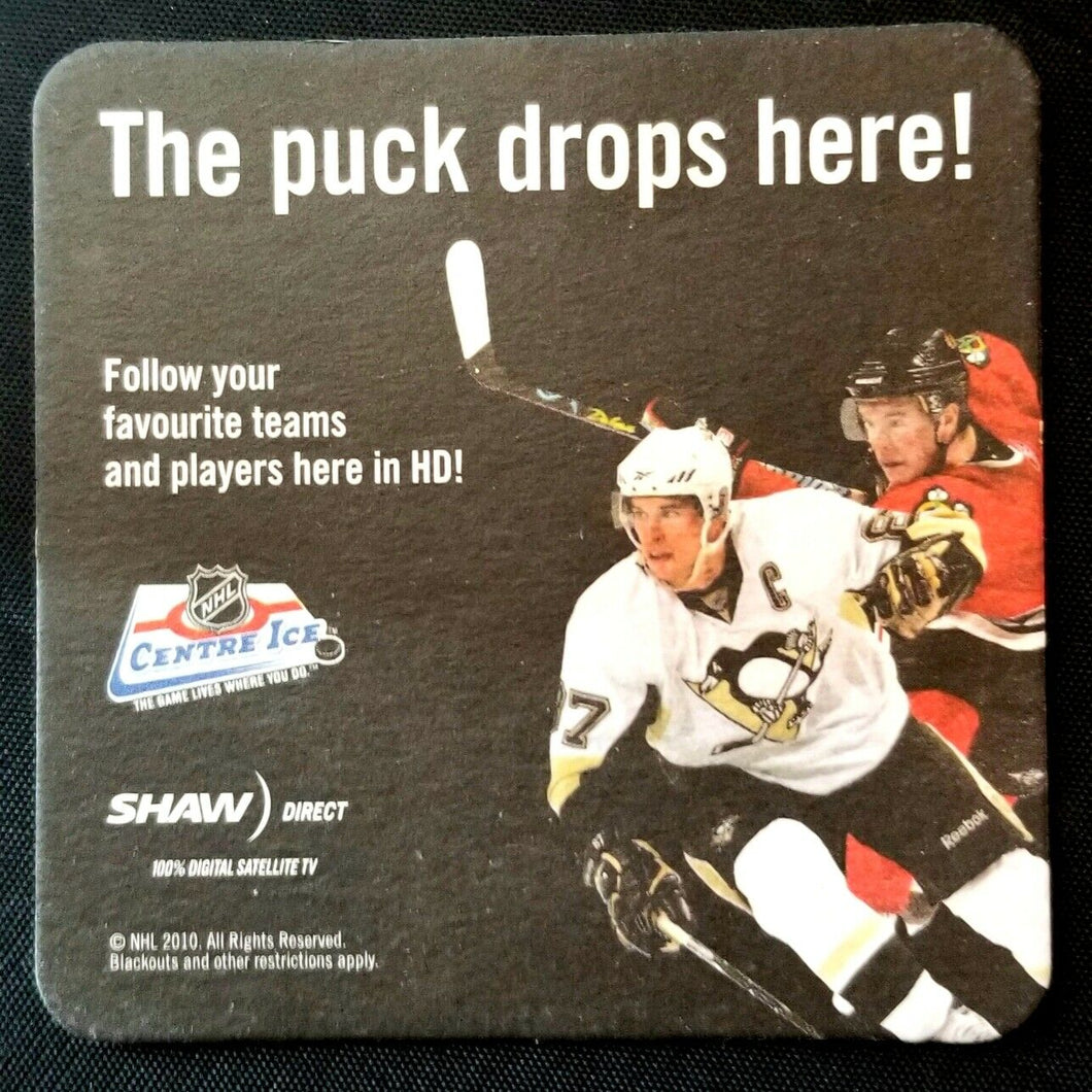 2010 Coaster Jonothan Toews Sidney Crosby Hockey NHL Center Ice Promotion