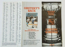 Load image into Gallery viewer, 1985/1986 National Hockey League Official Schedule Gretzky Back Featured NHL
