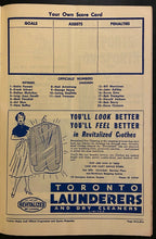 Load image into Gallery viewer, 1960 NHL Hockey Program Toronto Maple Leafs vs New York Rangers Red Kelly Cover