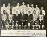 1962-63 NBA Basketball Team Issued Champion Boston Celtics Photo Russell Cousy +