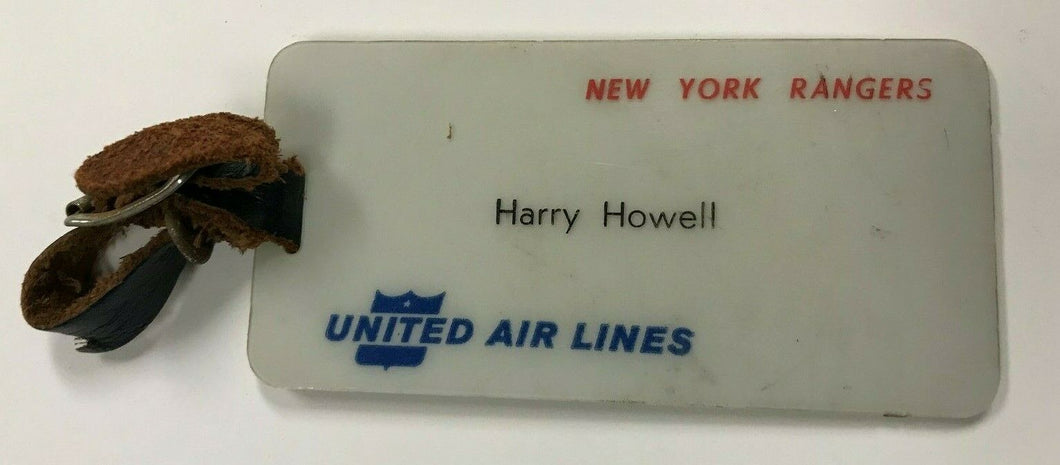 1960 New York Rangers HARRY HOWELL Personal Luggage Tag Vintage NHL Hockey