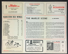 Load image into Gallery viewer, 1967 Toronto Marlboros Official Hockey Game Program Hamilton Red Wings