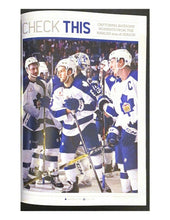 Load image into Gallery viewer, 2016 NHL Hockey Magazine + Ticket Toronto Maple Leafs 100th Season Opener