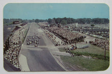 Load image into Gallery viewer, 1950s Starting Of Indy 500 Postcard Indianapolis Motor Speedway Vintage Racing