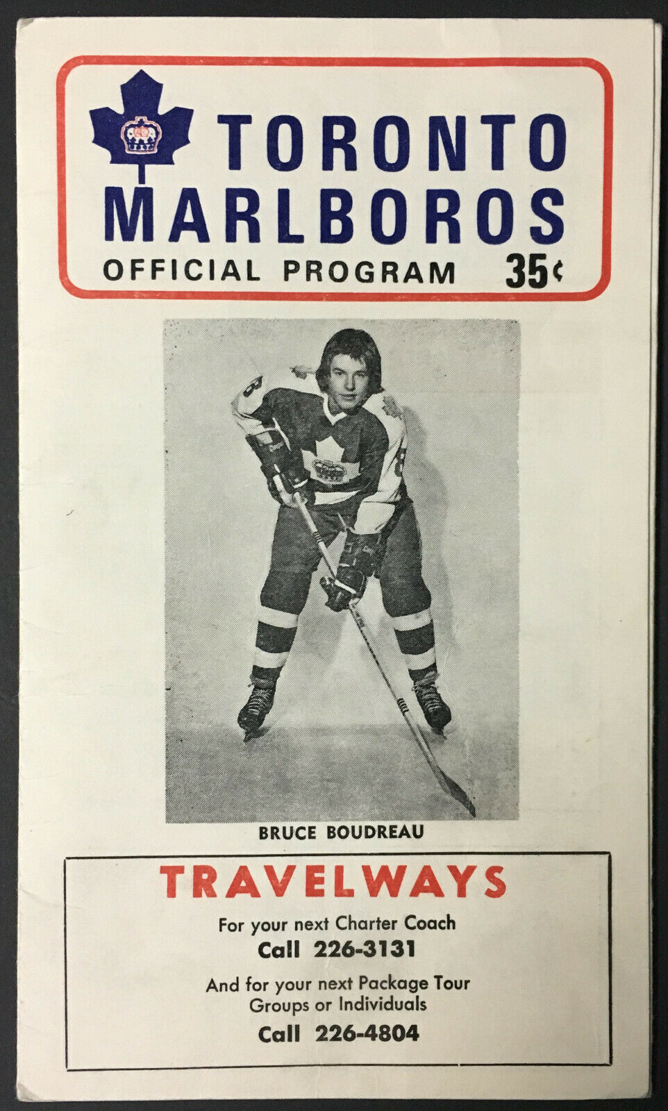 1973 Maple Leaf Gardens OHA Hockey Program Toronto Marlboros vs Ottawa 67's